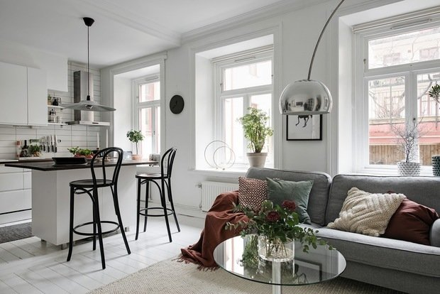 Фотография: Кухня и столовая в стиле Скандинавский, Декор интерьера, Квартира, Швеция, 2 комнаты, 40-60 метров, Alvhem – фото на InMyRoom.ru