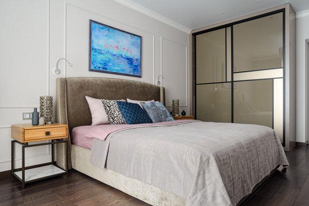 Фотография: Спальня в стиле Современный, Классический, Квартира, Проект недели, Новосибирск, 4 и больше, 60-90 метров, Art Twins Design, Тая Акулова, Глеб Скотников – фото на INMYROOM