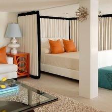 Фотография: Спальня в стиле Современный, Гостиная, Малогабаритная квартира, Квартира, Дом, Планировки, Перепланировка – фото на InMyRoom.ru