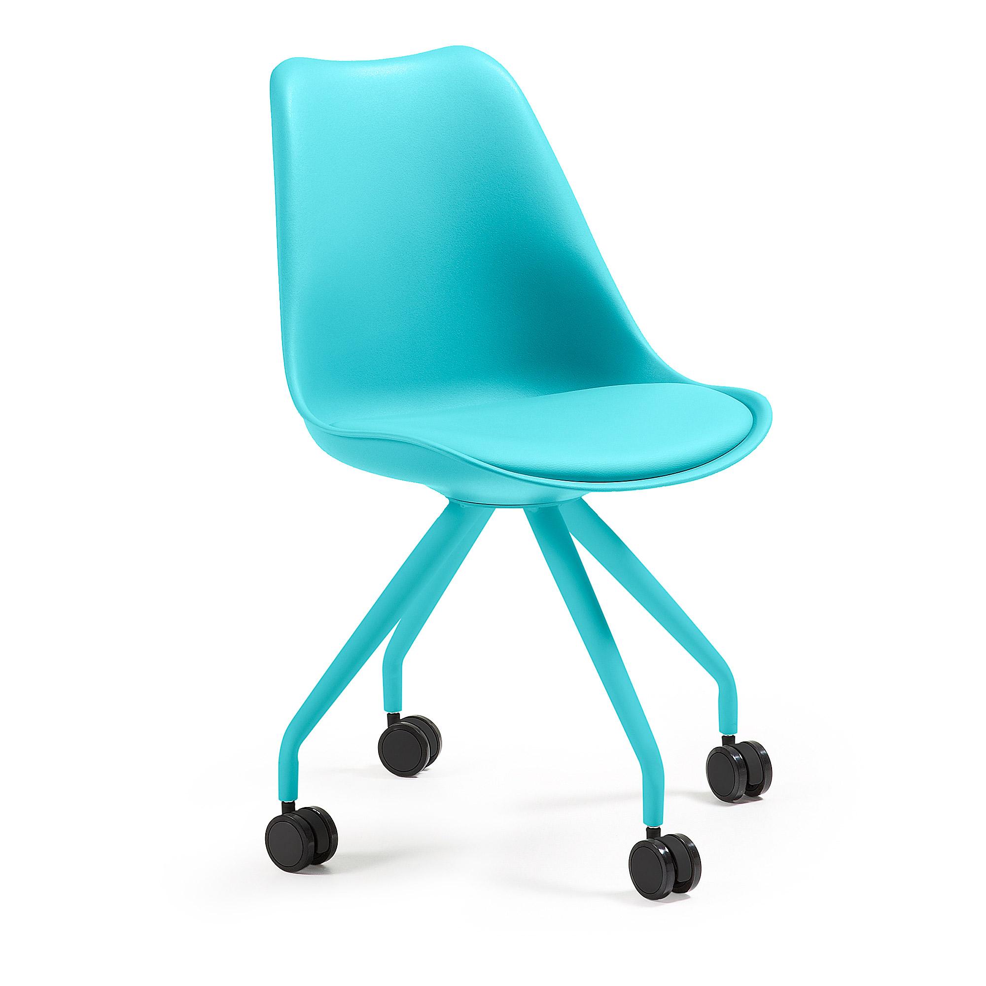 Купить Кресло на колесиках Julia Grup Lars (голубой), inmyroom, Испания