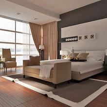 Фотография: Спальня в стиле Современный, Декор интерьера, Интерьер комнат, Мебель и свет, Кровать – фото на InMyRoom.ru