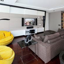 Фотография: Гостиная в стиле Современный, Хай-тек, Квартира, Дома и квартиры – фото на InMyRoom.ru