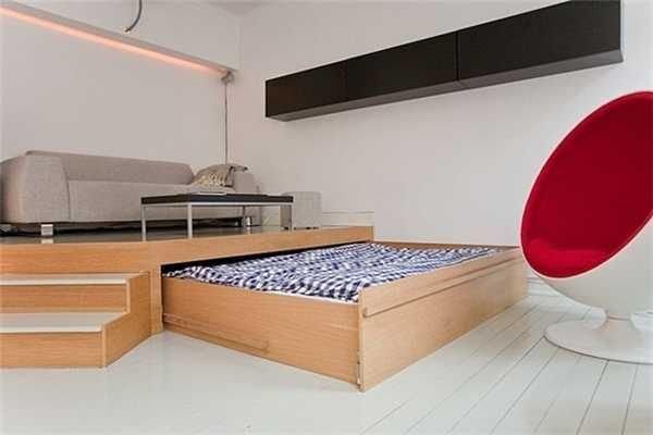 Фотография: Гостиная в стиле Лофт, Спальня, Интерьер комнат – фото на InMyRoom.ru