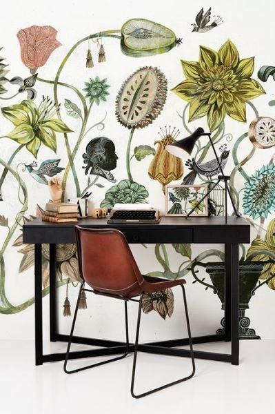 Фотография:  в стиле , Декор интерьера, Декор, Советы, Фотообои, отделка стен в ванной, декор стен в студии, зонирование в студии – фото на InMyRoom.ru