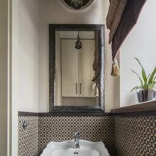 Фотография: Ванная в стиле Кантри, Декор интерьера, Мебель и свет, Проект недели, Лена Ленских – фото на InMyRoom.ru