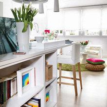 Фотография: Гостиная в стиле Современный, Малогабаритная квартира, Квартира, Испания, Цвет в интерьере, Дома и квартиры, Белый – фото на InMyRoom.ru