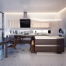 Фото из портфолио Кухня кофе с молоком – фотографии дизайна интерьеров на INMYROOM