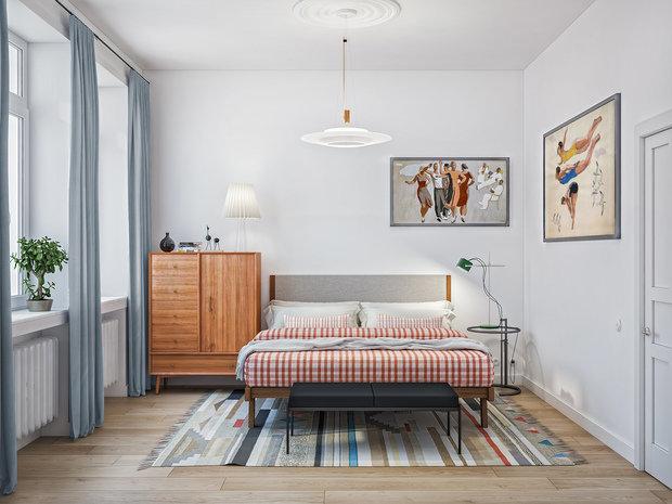 Фотография: Спальня в стиле Скандинавский, Ремонт на практике, «Точка ремонта», Дмитрий Кулаков – фото на InMyRoom.ru
