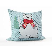 Декоративная подушка: Белый мишка