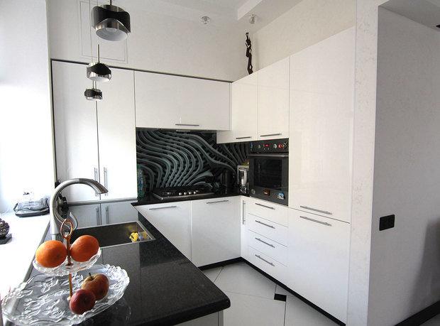фото кухни мойка напротив окна