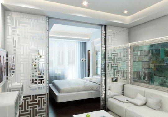 Фотография: Спальня в стиле Современный, Хай-тек, Гостиная, Интерьер комнат – фото на InMyRoom.ru