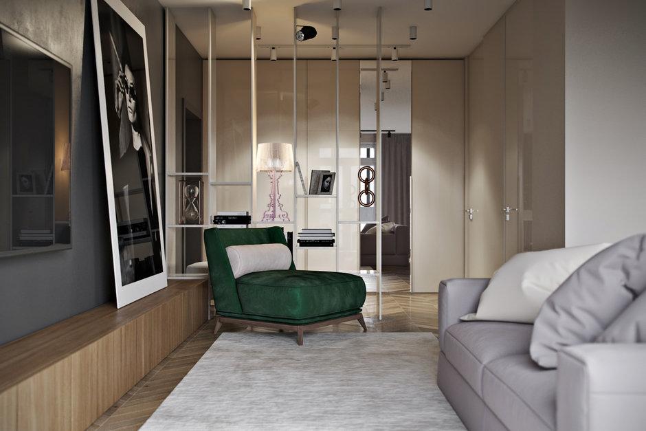 Фотография:  в стиле , Квартира, Проект недели, Cultura-дизайн, 2 комнаты, 60-90 метров, Ольга Буравкова, Анна Доброковская – фото на InMyRoom.ru