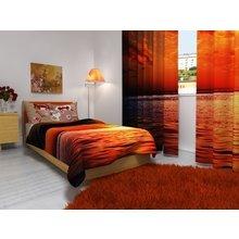 Комплект для спальной комнаты:Оранжевый океан