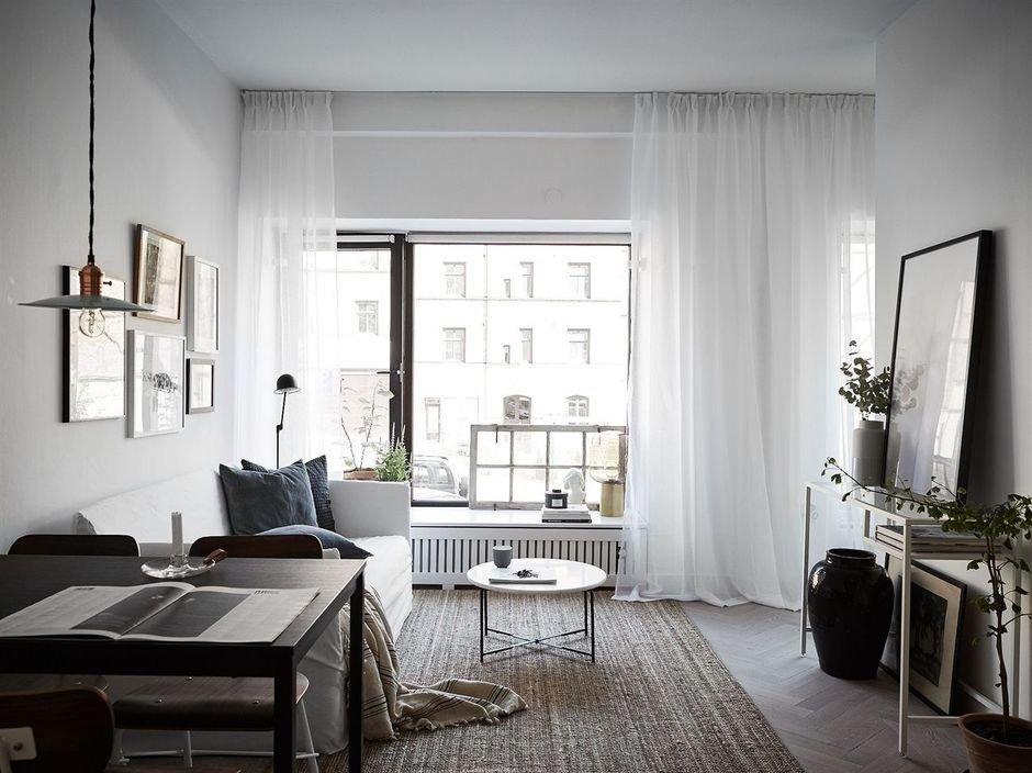 Фотография: Гостиная в стиле Скандинавский, Малогабаритная квартира, Квартира, Гид – фото на InMyRoom.ru