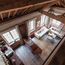 Фотография: Гостиная в стиле Лофт, Квартира, Терраса, Дома и квартиры, Лондон, Мансарда – фото на InMyRoom.ru