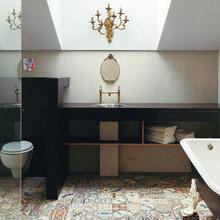 Фотография: Ванная в стиле Кантри, Эклектика, Дом, Дома и квартиры – фото на InMyRoom.ru