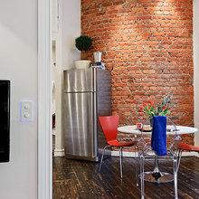 Фотография: Кухня и столовая в стиле Лофт, Скандинавский, Малогабаритная квартира, Квартира, Швеция, Дома и квартиры – фото на InMyRoom.ru