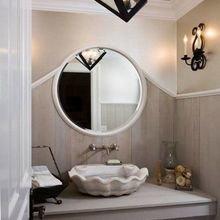 Фотография: Ванная в стиле Кантри, Декор интерьера, Дизайн интерьера, Декор, Цвет в интерьере, Морской – фото на InMyRoom.ru