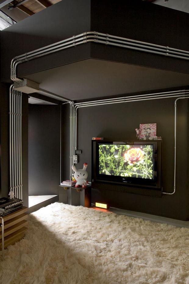 Фотография:  в стиле Лофт, Современный, Квартира, Дома и квартиры, Интерьеры звезд – фото на InMyRoom.ru