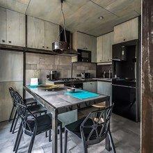 Фотография: Кухня и столовая в стиле Современный, Хай-тек, Интерьер комнат, Переделка, Индустриальный – фото на InMyRoom.ru