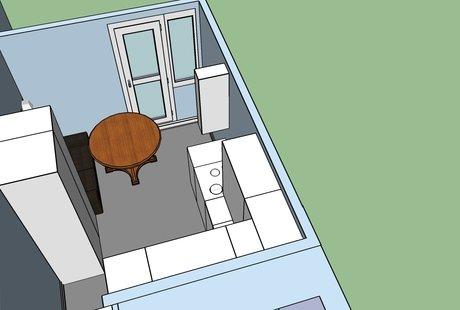 помогите расположить светильники на кухне
