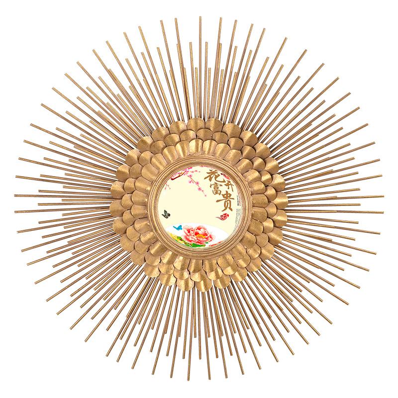 Купить Настенное зеркало Pijy в декоративной раме золотого цвета, inmyroom, Китай