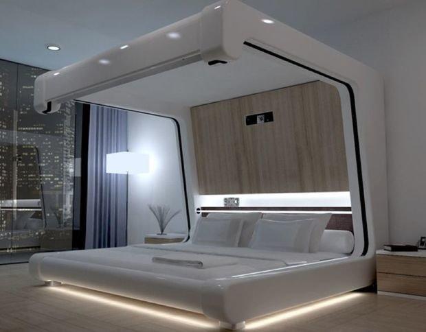 Фотография: Спальня в стиле Хай-тек, Декор интерьера, Интерьер комнат – фото на InMyRoom.ru
