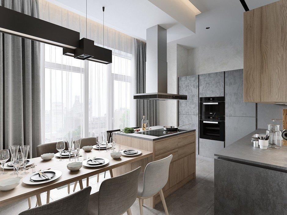 Фотография: Кухня и столовая в стиле Современный, Miele, Проект недели, 2 комнаты – фото на InMyRoom.ru
