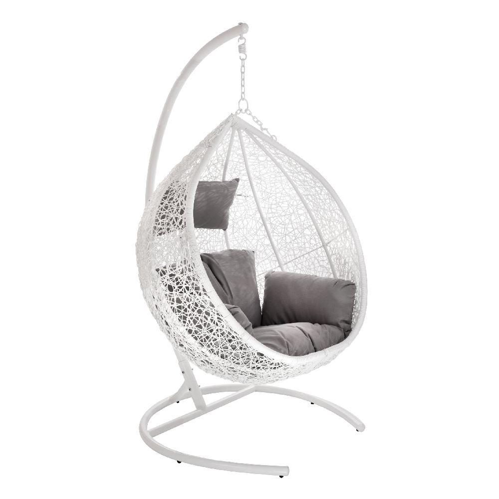 Кресло подвесное Orion White из искусственного ротанга