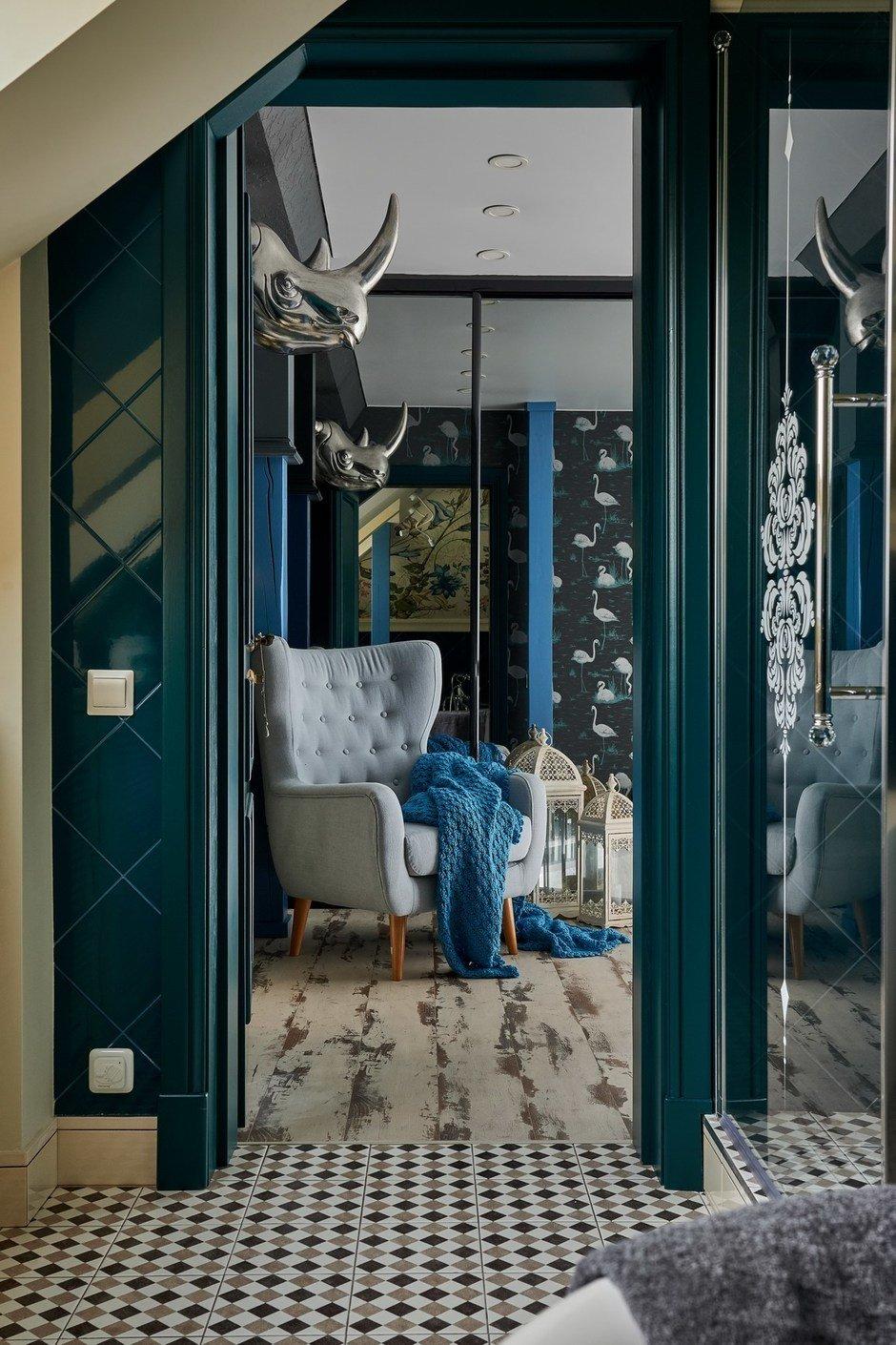 Фотография: Прихожая в стиле Эклектика, Прованс и Кантри, Восточный, Квартира, Проект недели, квартира в мансарде, Калининград, 4 и больше, Более 90 метров, Светлогорск, Монолитно-кирпичный, двухуровневая квартира, Виктория Лазарева – фото на InMyRoom.ru