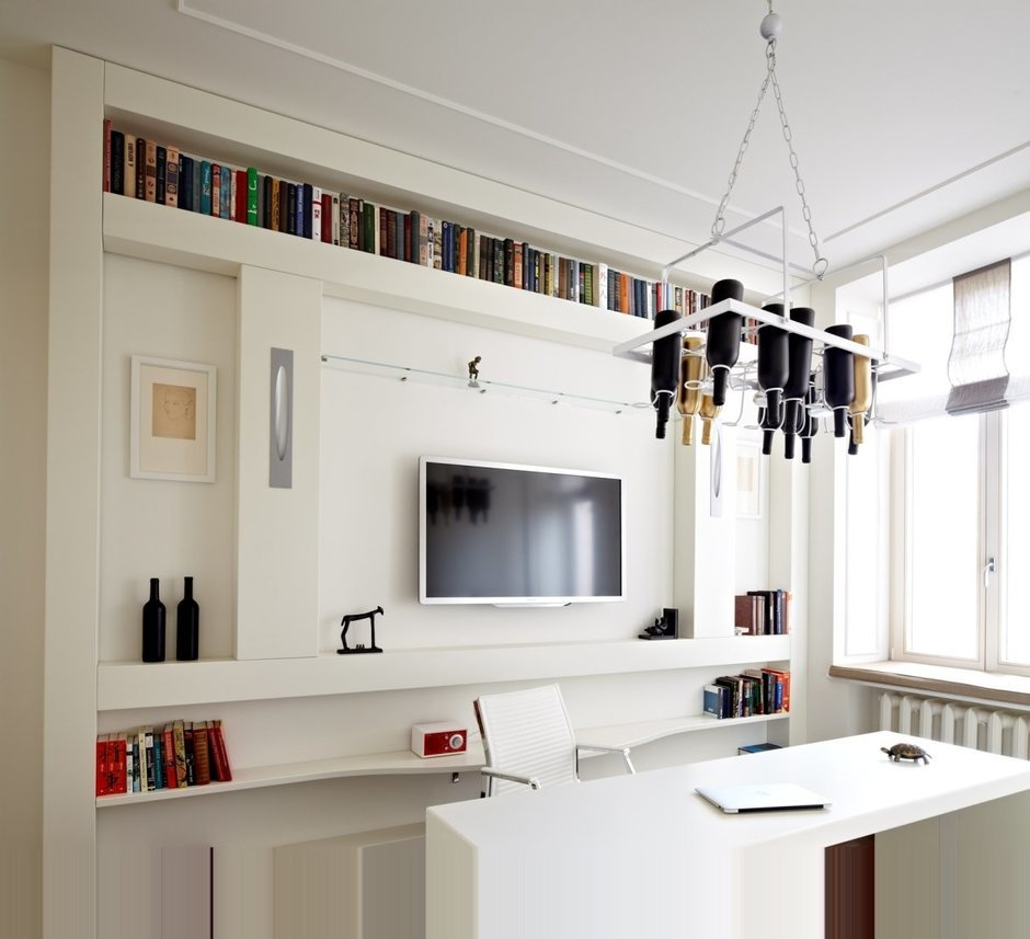 Фотография: Офис в стиле Современный, Спальня, Интерьер комнат, Цвет в интерьере, Белый, Проект недели – фото на InMyRoom.ru