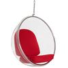 Кресло Eero Aarnio Style Bubble Chair красные подушки