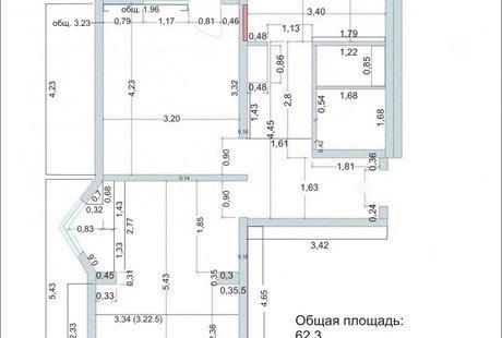 Торцевая двушка с эркером П44к (разделение комнат и втискавание гардеробной)
