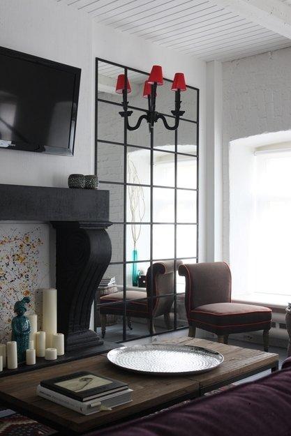 Фотография: Гостиная в стиле Эклектика, Декор интерьера, Квартира, Цвет в интерьере, Дома и квартиры, Стены, Екатерина Блохина – фото на InMyRoom.ru
