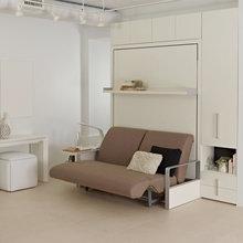 Фотография: Ванная в стиле Современный, Советы, Бежевый, Серый, Мебель-трансформер, кровать-трансформер, диван-кровать – фото на InMyRoom.ru