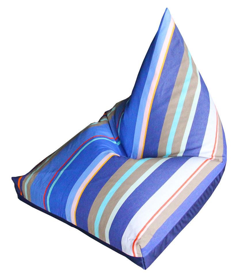 Купить Кресло-мешок пирамида l синее море, inmyroom, Россия