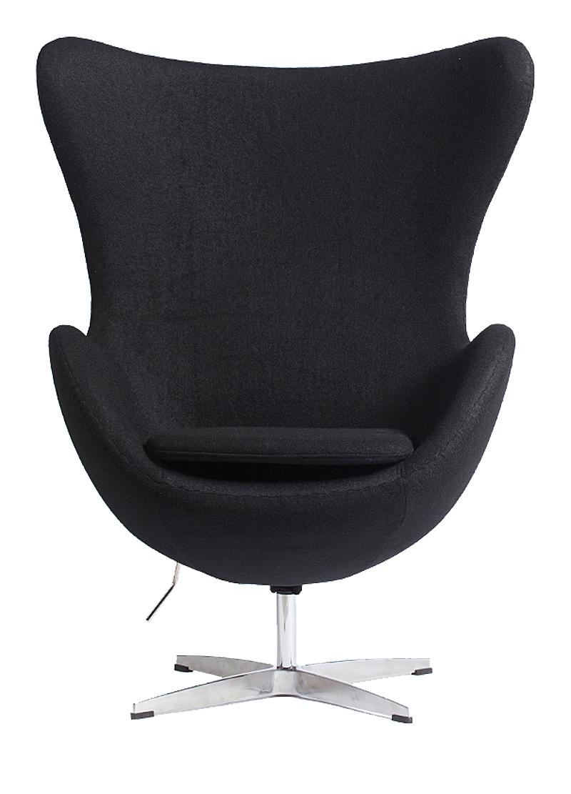 Купить со скидкой Кресло Egg Chair чёрное 100% кашемир
