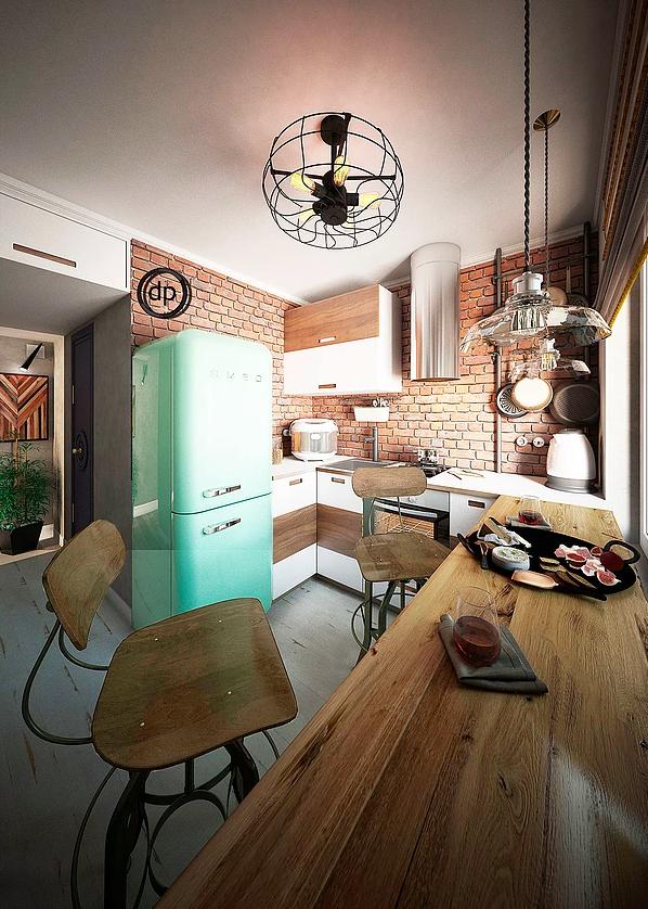 Фотография: Кухня и столовая в стиле Лофт, Советы, Диана Пономарева – фото на InMyRoom.ru