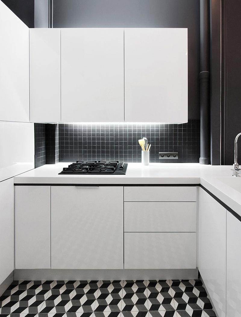 Фотография: Кухня и столовая в стиле Хай-тек, Квартира, Франция, Дома и квартиры – фото на InMyRoom.ru