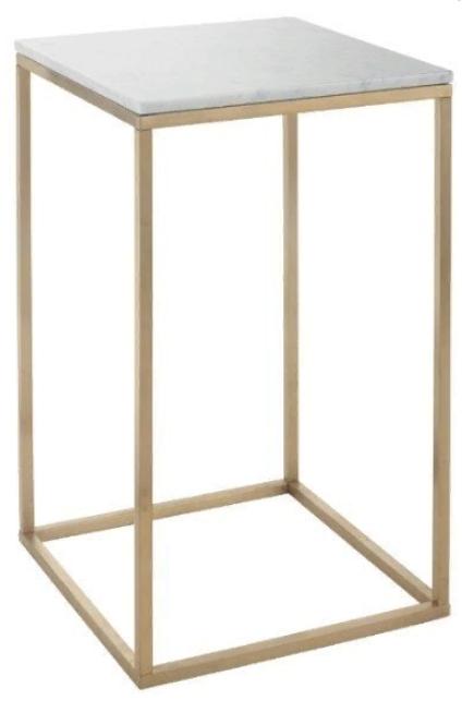 Купить Приставной столик Faceby с мраморной столешницей, inmyroom, Великобритания