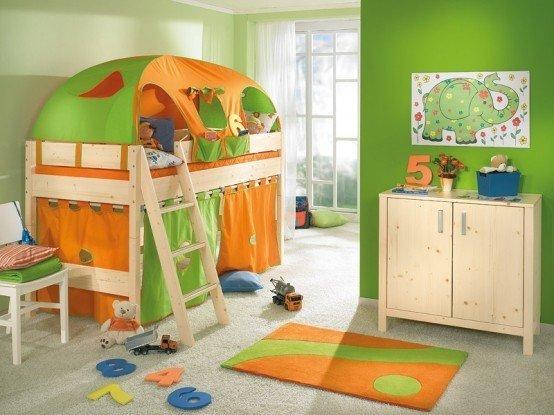 Фотография: Детская в стиле Эко, Интерьер комнат, Цвет в интерьере – фото на InMyRoom.ru