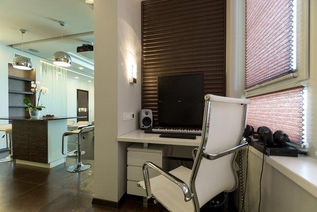 Фотография: Офис в стиле Современный, Балкон, Интерьер комнат – фото на InMyRoom.ru