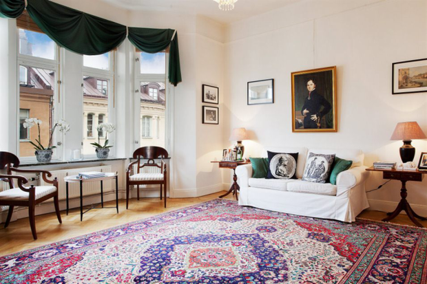 Фотография: Гостиная в стиле Скандинавский, Классический, Малогабаритная квартира, Квартира, Дома и квартиры, Стокгольм – фото на InMyRoom.ru