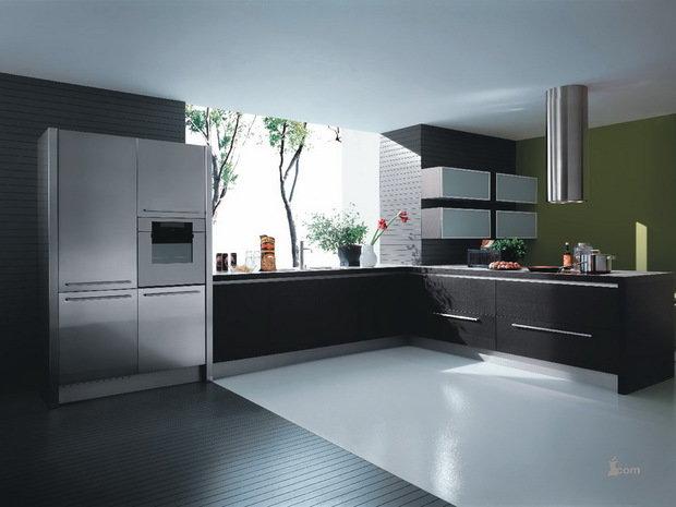 Фотография: Прочее в стиле , Кухня и столовая, Декор интерьера, Дизайн интерьера, Цвет в интерьере, Черный, Пол – фото на InMyRoom.ru