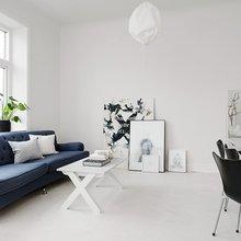 Фото из портфолио Белоснежный интерьер с ярким синим акцентом – фотографии дизайна интерьеров на InMyRoom.ru