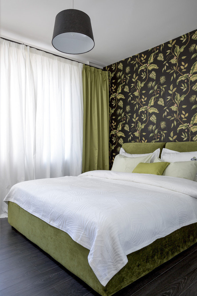 Фотография: Спальня в стиле Современный, Эклектика, Квартира, Дома и квартиры, IKEA, Проект недели, Перепланировка, Москва, Zara Home – фото на InMyRoom.ru