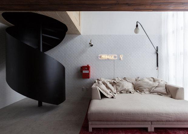 Фотография: Спальня в стиле Прованс и Кантри, Современный, Малогабаритная квартира, Квартира, Дома и квартиры – фото на InMyRoom.ru