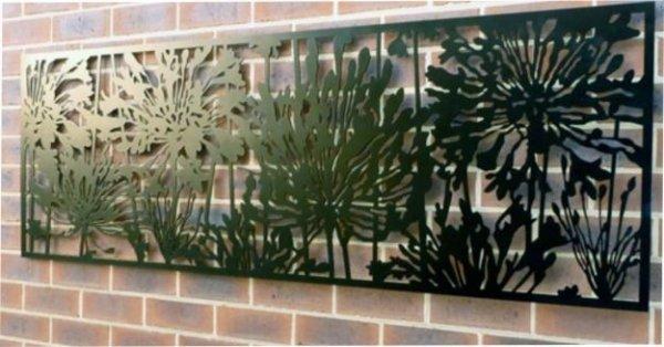 Металлические панели на стену.