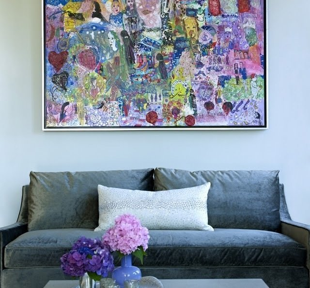Фотография: Гостиная в стиле Современный, Декор интерьера, Дизайн интерьера, Цвет в интерьере, Серый – фото на InMyRoom.ru