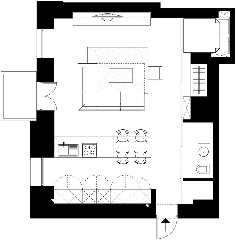 Фотография: Планировки в стиле , Малогабаритная квартира, Квартира, Дома и квартиры, Перепланировка – фото на InMyRoom.ru